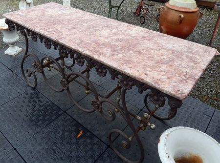 Grande table de boucherie